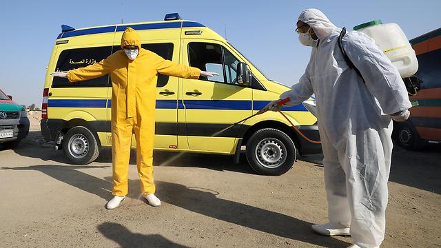 נגיף קורונה מצרים קהיר (צילום: EPA)