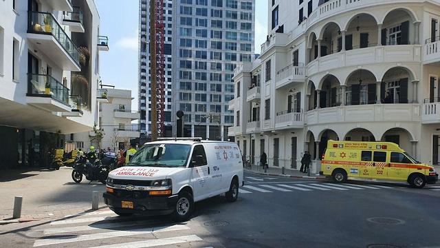 תיעוד מזירת הירי במלון ביץ' האוס בתל אביב (צילום: מד