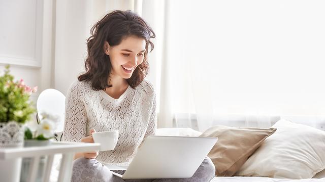 עבודה מהבית (צילום: Shutterstock)