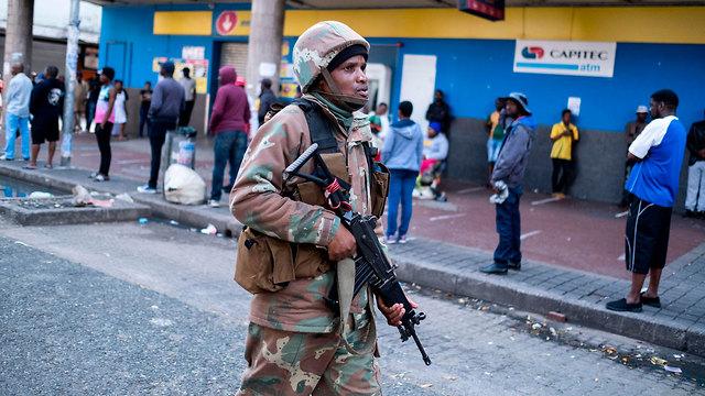 נגיף קורונה דרום אפריקה יוהנסבורג (צילום: AFP)