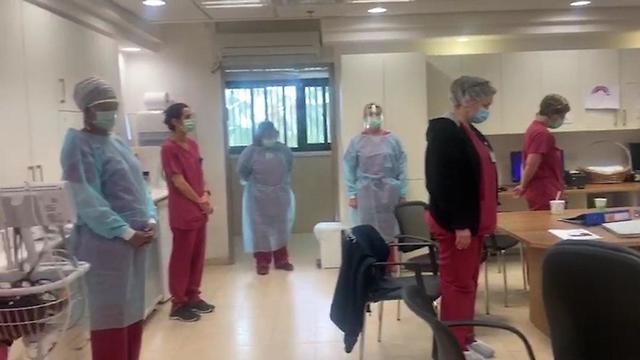 צפירה בבית החולים מאיר בחדר הלידה (דוברות בית החולים מאיר)