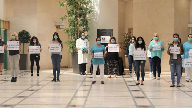 צפירה בבית החולים שניידר (צילום: דוברות בית חולים שניידר)