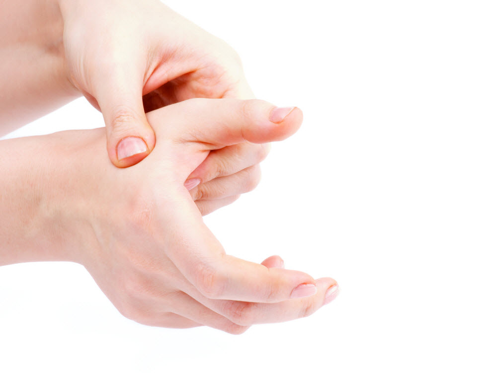 """""""הכפתורים"""" בכפות הידיים שיכולים להפחית חרדה (צילום: shutterstock)"""