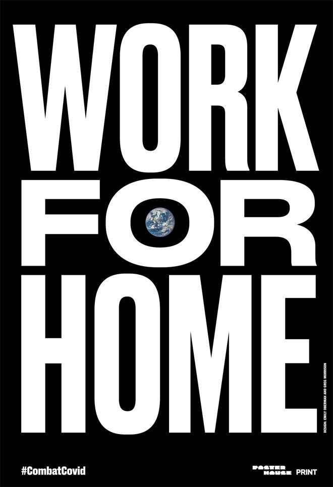 פרפראזה על ''עבדו מהבית'' (Courtesy of Poster House and Times Square Arts)