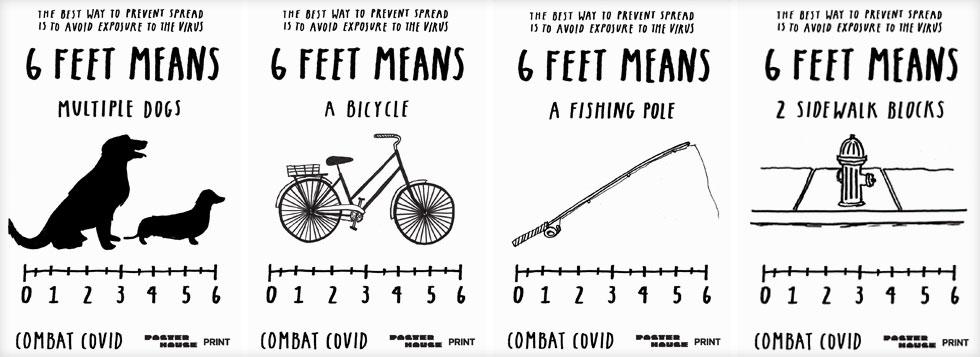 איך יודעים כמה זה 6 רגל (כשני מטרים)? ג'ו הוליאר מנסה להסביר (Courtesy of Poster House and Times Square Arts)