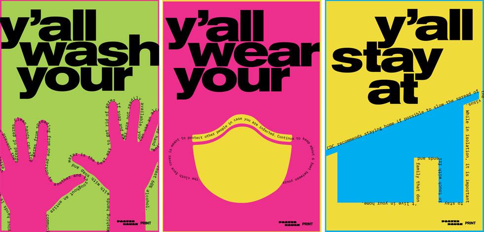 אולה בולדיץ' יצרה את קולאז' הפוסטרים הזה. מקבץ של טובי היוצרים (Courtesy of Poster House and Times Square Arts)