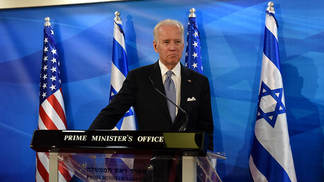 ג'ו ביידן בישראל, מרץ 2016 (צילום: AFP)