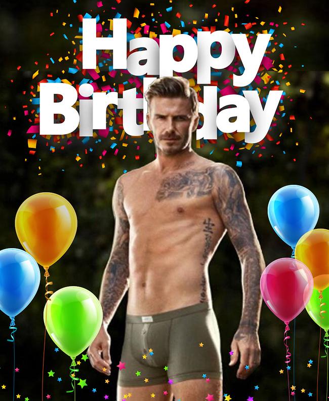 בן 45 ולוהט מתמיד. דיוויד בקהאם חוגג יום הולדת (צילום מסך)