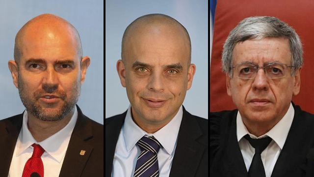 מני מזוז, דן אלדד ואמיר אוחנה (צילום: אוהד צויגנברג, דוברות משרד המשפטים, שאול גולן)
