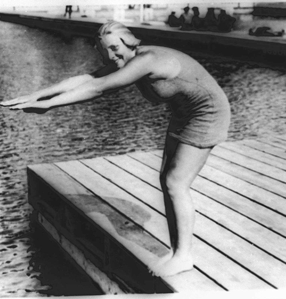 קבעה שיא עולם בשחייה. אתלדה בלייבטרי (צילום: AP)
