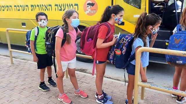 יום ראשון לחזרה ללימודים בבית הספר 'שיטים' במועצה אזורית הערבה התיכונה (צילום: מירית הלמן, הערבה התיכונה)