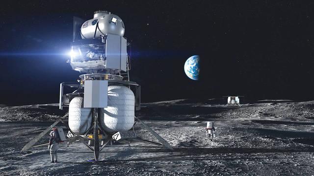 רכב הנחיתה הדומה ביותר למקור של תוכנית אפולו. הדמיית החללית של בלו אוריג'ין על הירח  (הדמיה: Blue Origin)