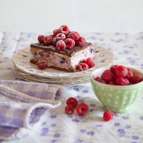 עוגת ביסקוויטים עם גבינה ופירות יער  (צילום: יוסי סליס סגנון: נטשה חיימוביץ')