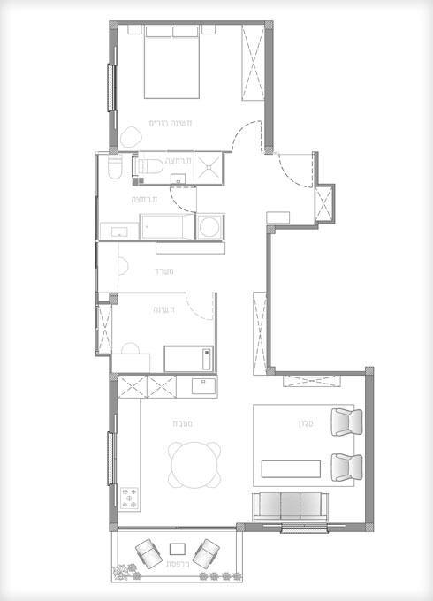 ולאחר השיפוץ (תוכנית: אסקולה שקד אדריכלות)