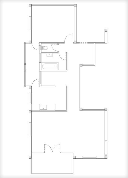 תוכנית הדירה המקורית (תוכנית: אסקולה שקד אדריכלות)
