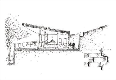 """בקתות מגורים על טראסות (הדמיה: עדה כרמי מלמד אדריכלים בע""""מ)"""