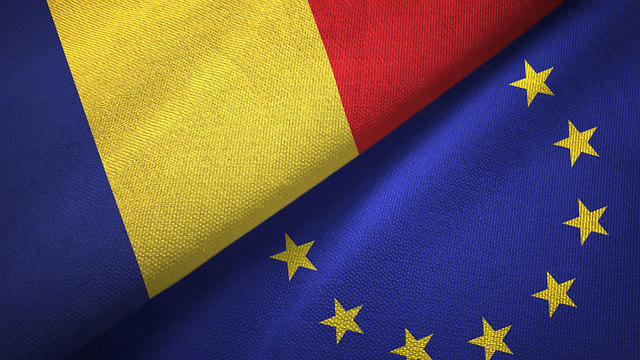 רומניה האיחוד האירופי דגל דגלים (צילום: shutterstock)