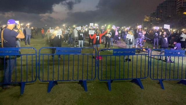 הפגנת מחאה של אנשי חיי הלילה בצ'ארלס קלור בתל אביב (צילום: איגוד חיי הלילה)