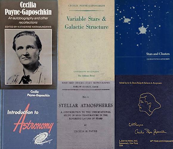 מחקרים שהפכו לאבני יסוד בתחום האסטרונומיה. כמה מספריה של ססיליה פיין-גפושקין ( )