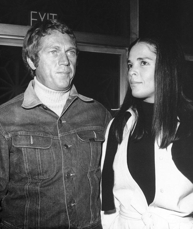 עם סטיב מקווין, 1972 (צילום: AP)