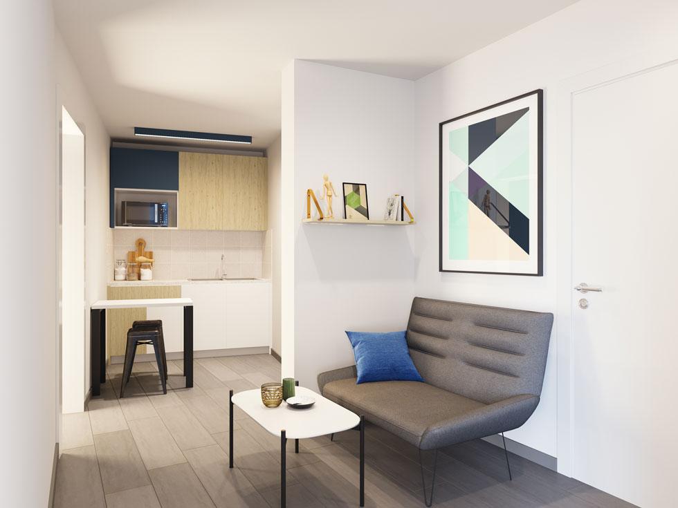 הדמיה של אחת הדירות. נגיעות צבע (הדמיה: Ddesign 3)