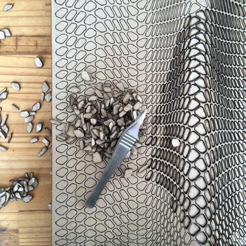עיצוב פרמטרי ועבודת יד יחד (צילום: אריאל בלונדר ושירה שובל)