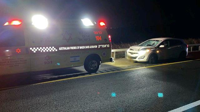 הולך רגל נפגע בכביש 6 (צילום: תיעוד מבצעי מד