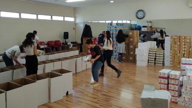 מתנדבים במינהל הקהילתי בזמן הקורונה (צילון: מינהל קהילתי עיר גנים, ירושלים)