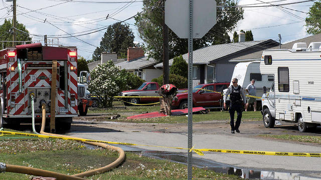 התרסקות מטוס אווירובטי בבריטיש קולומביה, קנדה (צילום: רויטרס)