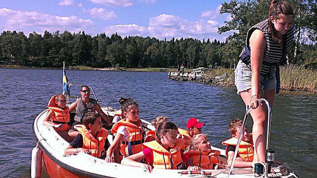 ילדים במחנה הקיץ בגלמשטה, סמוך לשטוקהולם (באדיבות גלמשטה)