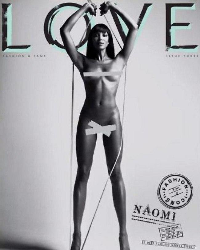 חושפת טפחיים, על שער מגזין LOVE (צילום מסך)
