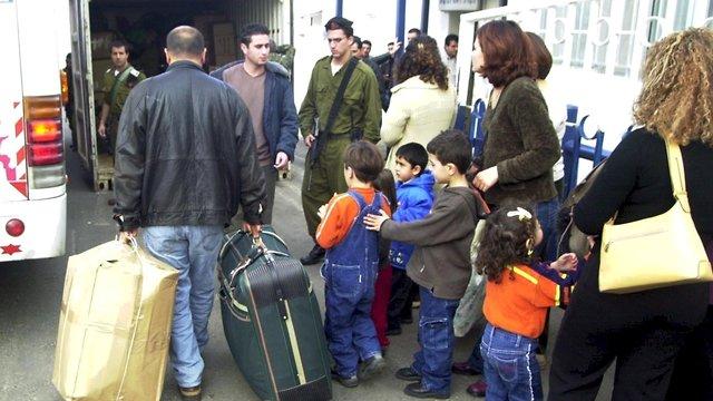 צדלניקים בורחים לישראל (צילום: אפי שריר)