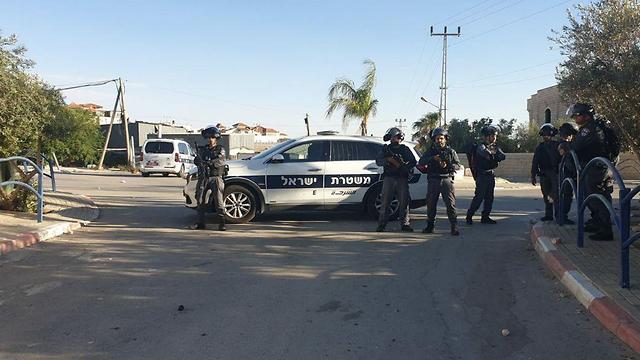 קטטה בערערה שבנגב (צילום: דוברות המשטרה )
