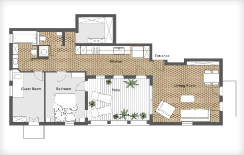 תוכנית הדירה והריצוף (תוכנית: יונתן קנטי)