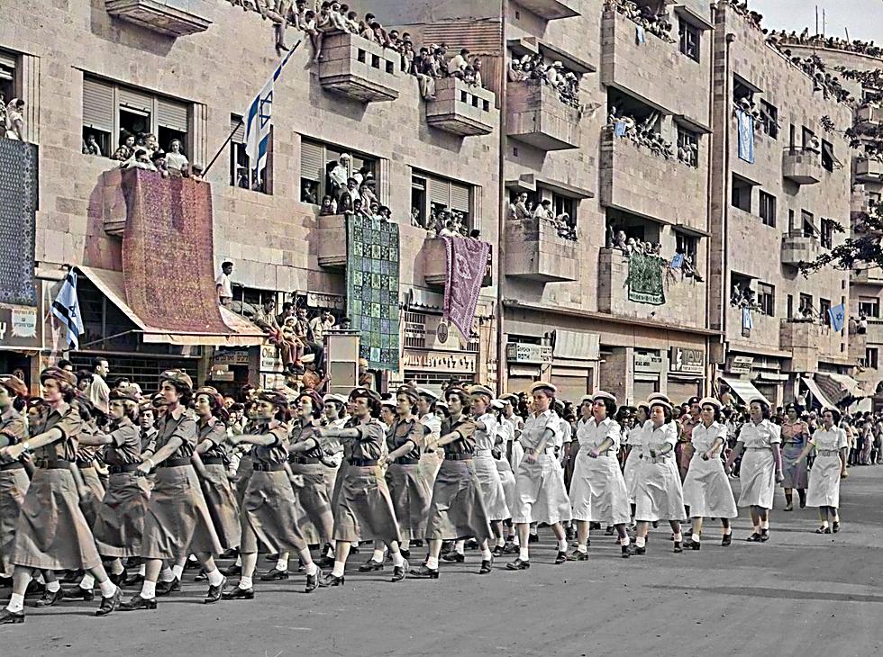 מצעד הצבא בירושלים (צילום: פריץ שלזינגר, באדיבות ארכיון קק