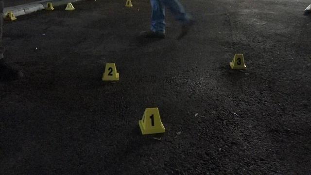 זירת הירי במעלות (צילום: דוברות המשטרה)