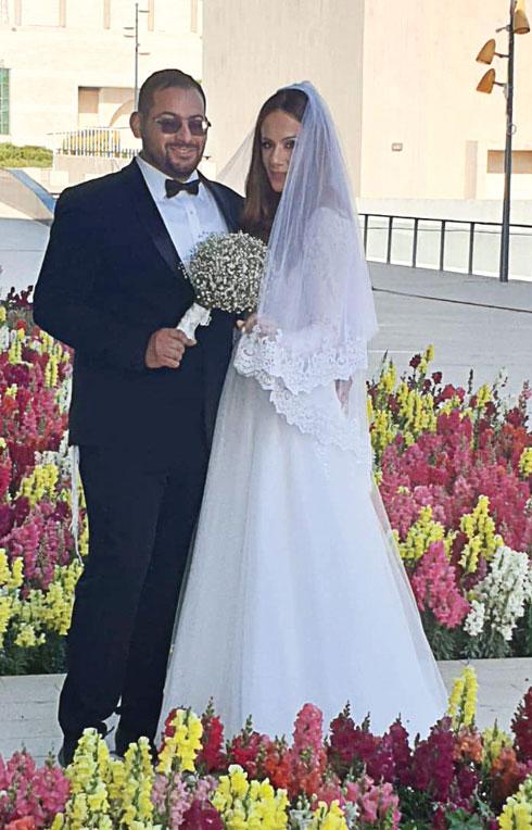 """חגית ושמחה בחתונתם. """"למרות הקורונה, לא רצינו לדחות""""  (צילום: אלבום פרטי)"""