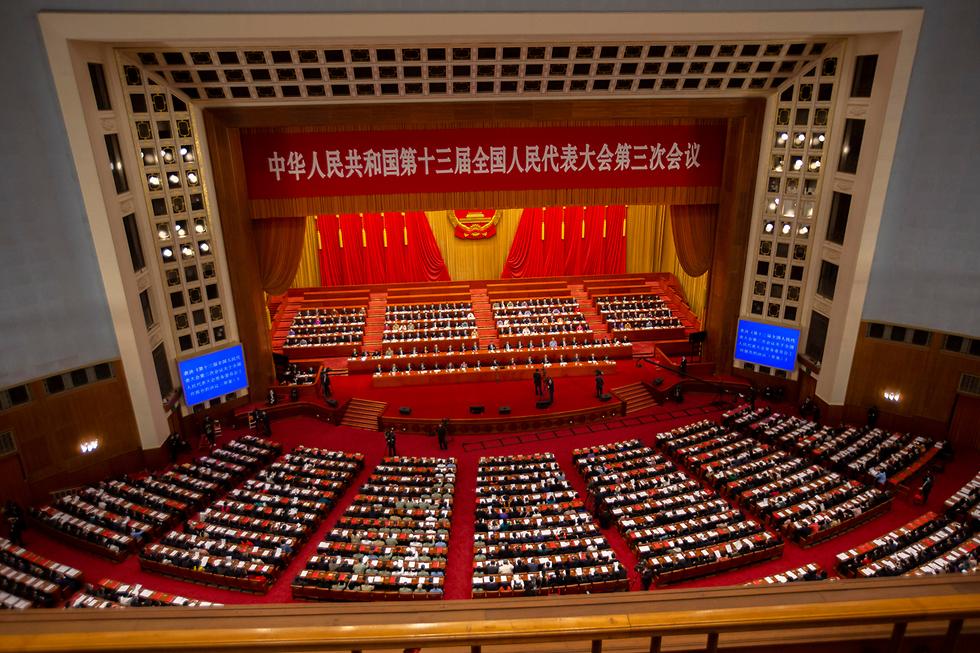 ה קונגרס הלאומי העממי של סין אישור חוק הביטחון הונג קונג (צילום: AP)