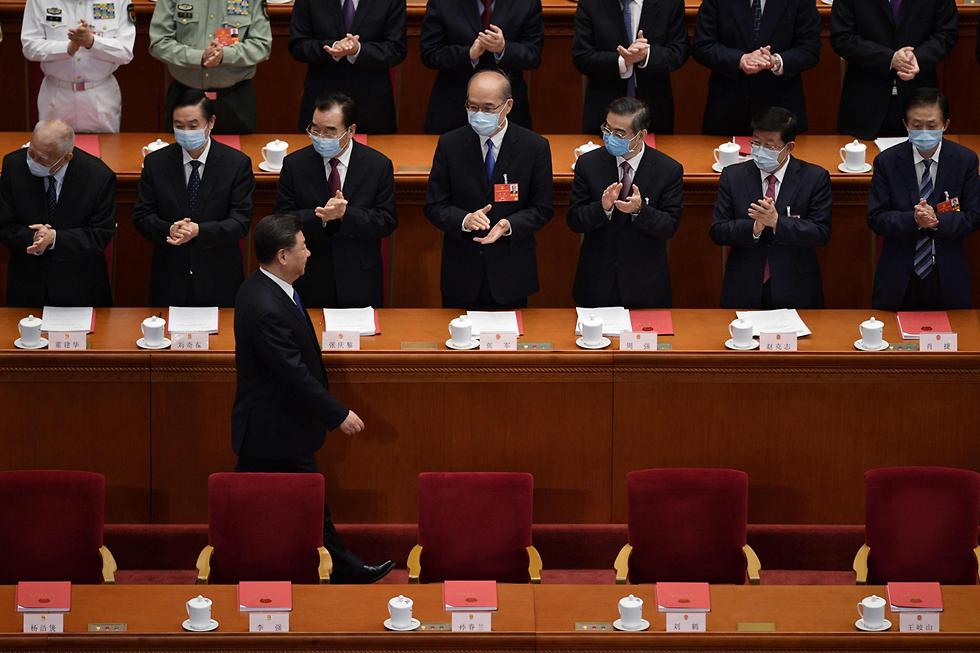 ה קונגרס הלאומי העממי של סין אישור חוק הביטחון הונג קונג (צילום: AFP)