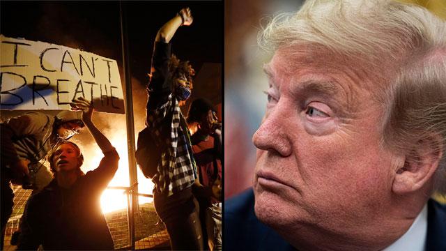 מהומות מיניאפוליס  (צילום: EPA, AP)