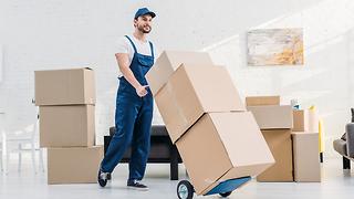 הובלה של ארגזים במעבר דירה (צילום: Shutterstock)