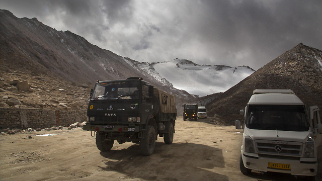 אזור לדאק ליד הגבול בין הודו ל סין תמונת ארכיון מ-2018 (צילום: AP)