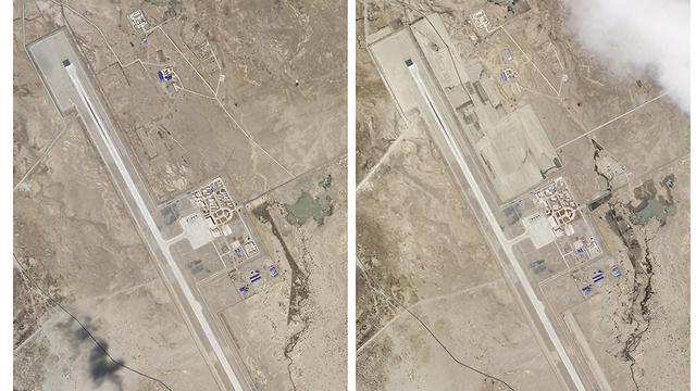 תמונות לוויין של בסיס צבאי סיני ב טיבט ליד הגבול עם הודו באזור לדאקב (צילום: AP)