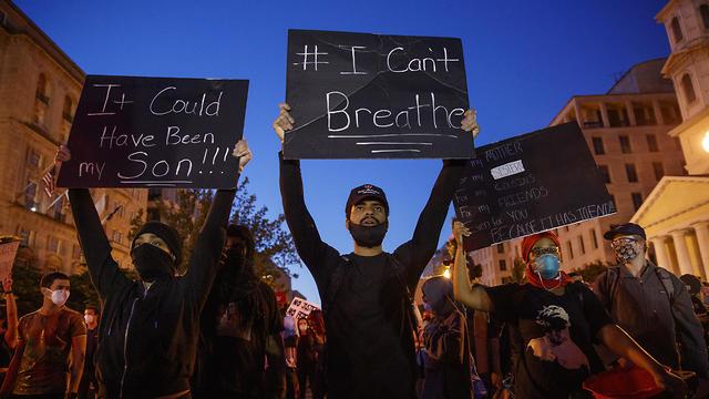 הפגנות בוושינגטון ליד הבית הלבן (צילום: EPA)
