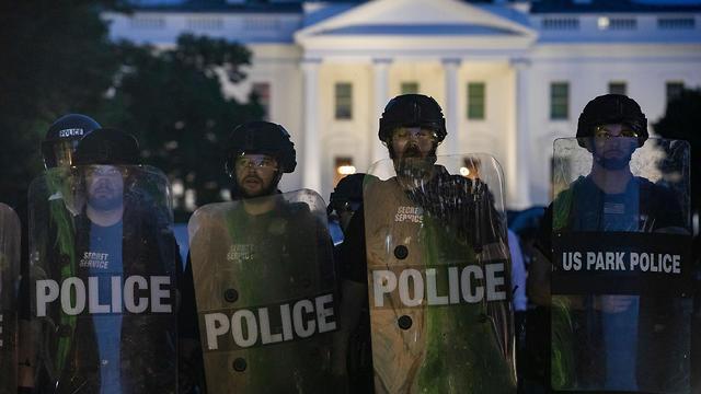 הפגנות בוושינגטון ליד הבית הלבן (צילום: AFP)