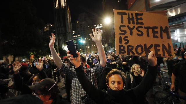ההפגנות בניו יורק (צילום: EPA)