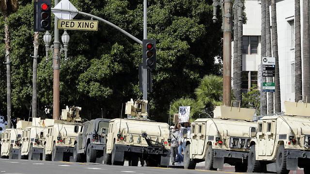 המשמר הלאומי בלוס אנג'לס (צילום: TNS)