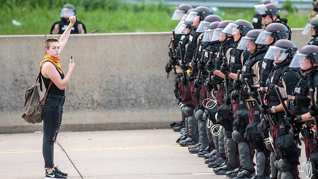 מהומות במינסוטה (צילום: AFP)