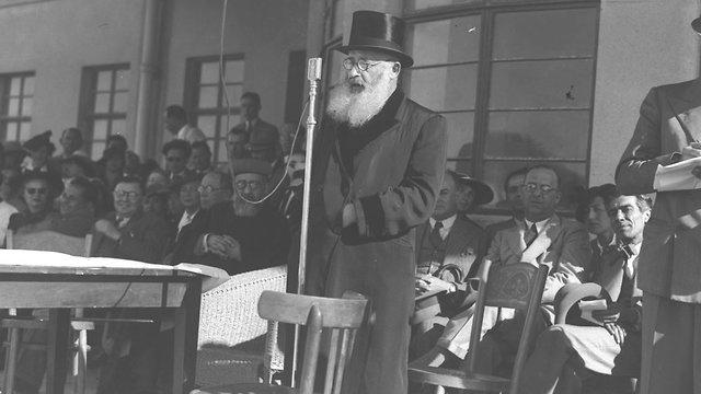 הרב משה עמיאל, הרב הראשי לתל אביב (צילום: קלוגר זולטן לע