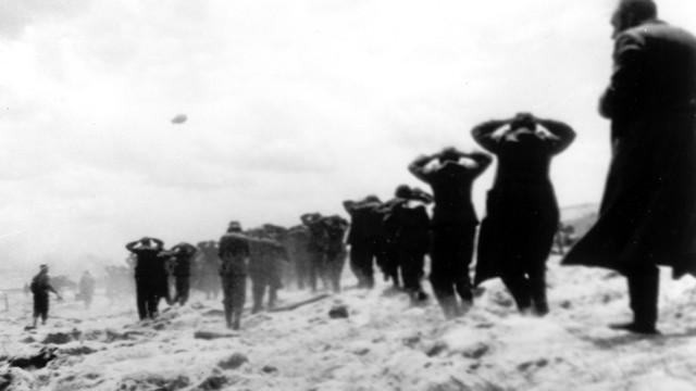 שבויים גרמנים שנלכדו בידי כוחות בעלות הברית (צילום: AP)